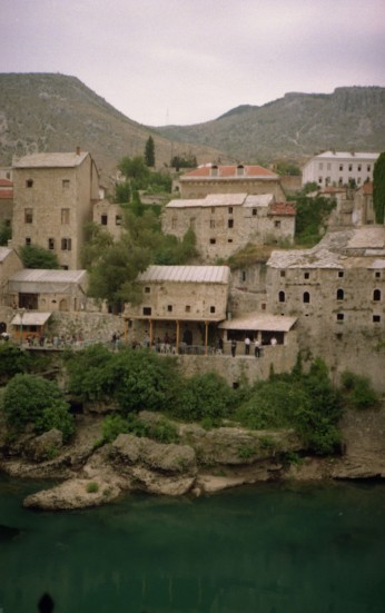 I took this view of Mostar and the Nereteva River in the summer of 1996