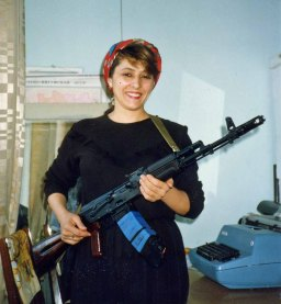 One of the women who said she would fight to defend Chechnya