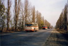 And forced their withdrawal under Chechen escort (troops are on the buses)
