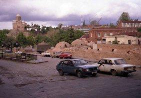 Tblisi's brick-domed seventeenth century sulphur baths