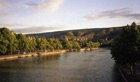 The Kura river in Tblisi