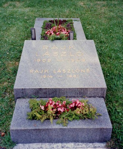 The Communist minister Laszlo Rajk was executed after a show trial in 1949