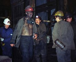Miners faced such health risks as black lung disease
