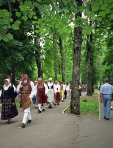 About every five years Latvia holds the Latvia Song and Dance Festival