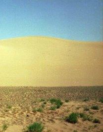 We walked over sand dunes
