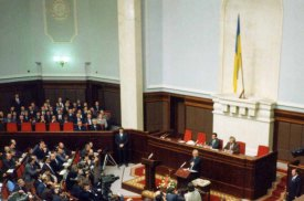 Kravchuk won the December 1 election and was later sworn into office