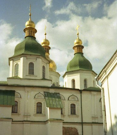 St. Sophia's cathedral dates back to eleventh century Kyivan Rus