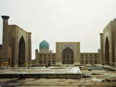 The Registan was the main square in Samarkand