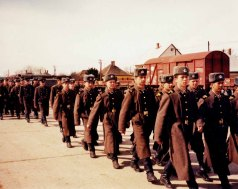 To witness the withdrawal of the first Soviet troops