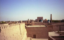 The Uzbek tourist town Khiva is a UNESCO world heritage site