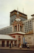 The ugly Rossiya hotel seen here in 1988 was ordered demolished in 2004