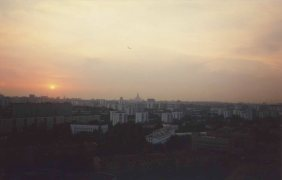 A view of Moscow that same summer from the Hotel Sevastopol