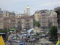 View of tent camp in maidan April 2014