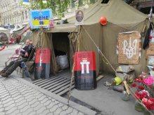 Rivne tent on maidan April 2014